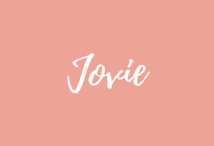 Jovie name meaning