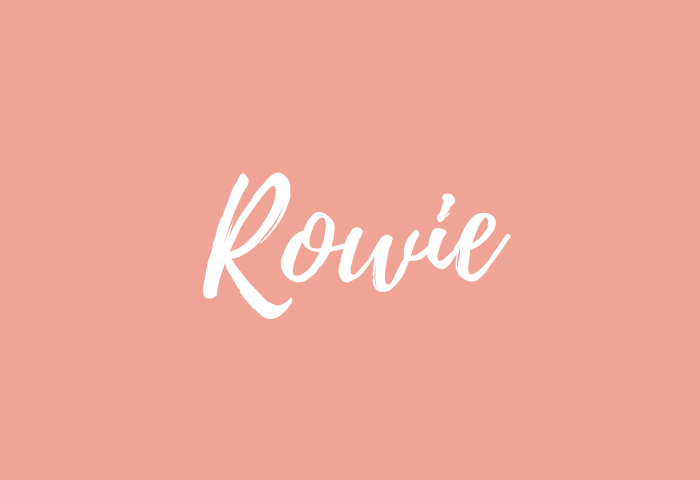 Rowie name meaning