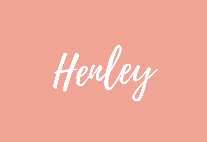Henley name meaning
