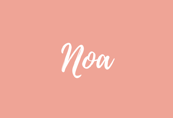 noa name meaning