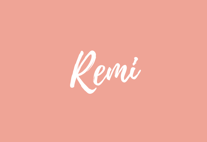 remi name meaning