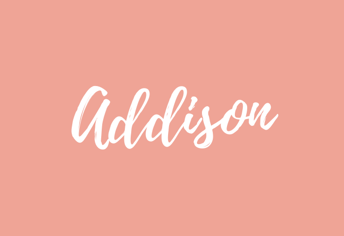 Addison name meaning
