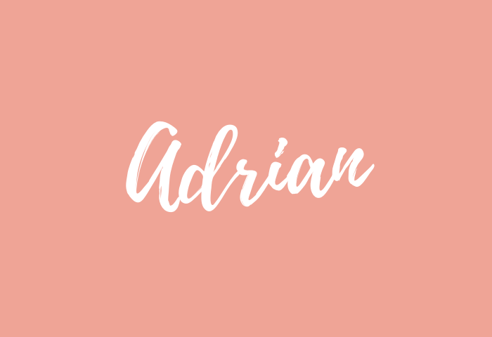 Adrian name meaning