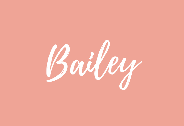 Bailey name meaning