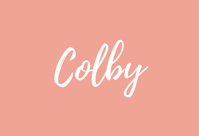 Colby name meaning
