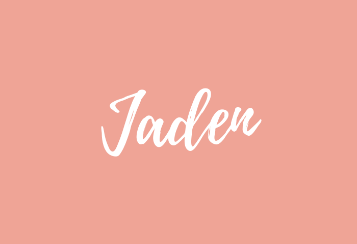 Jaden name meaning