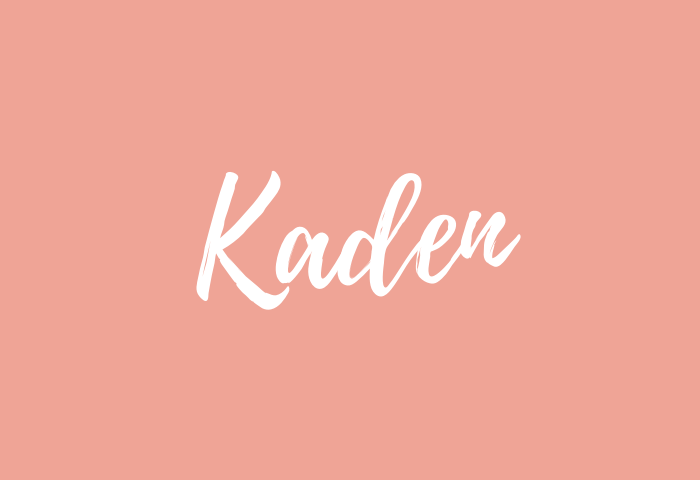 Kaden name meaning