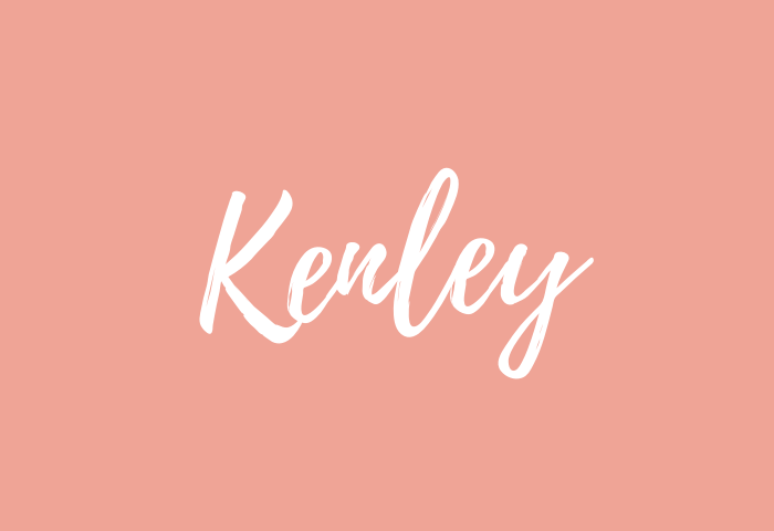 Kenley name meaning