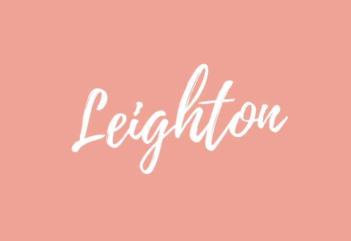 Leighton name meaning
