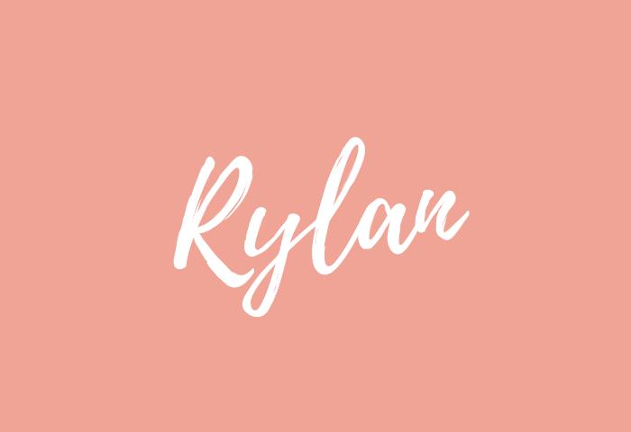 Rylan name meaning