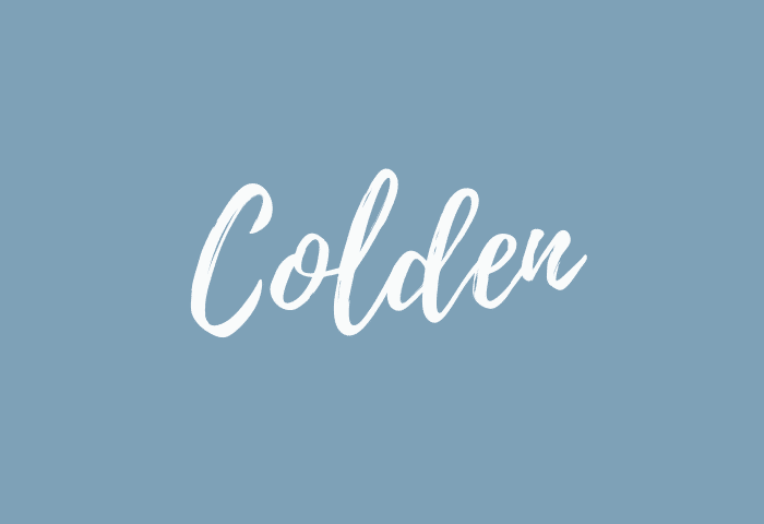 Colden name meaning