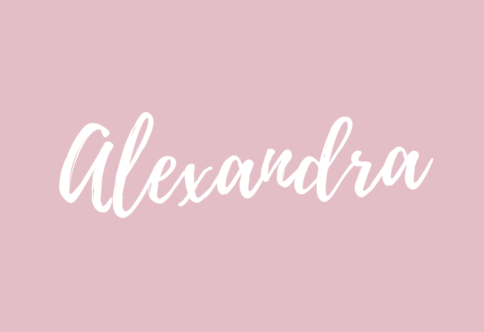 Alexandra name meaning