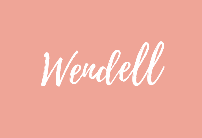 Wendell name meaning